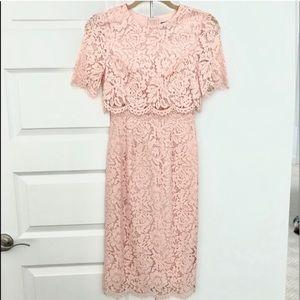 ASOS Petite lace midi dress